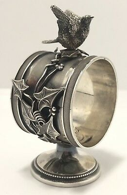 Antique Whiting #169 Sterling Silver Figural Bird Napkin Ring