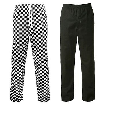 Chef Trousers Chef Black And White Check Chef Pants Uniform Unisex