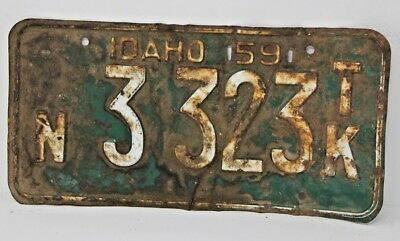 1959 IDAHO License Plate Collectible Antique Vintage Famous Potatoes N 3 323 TK