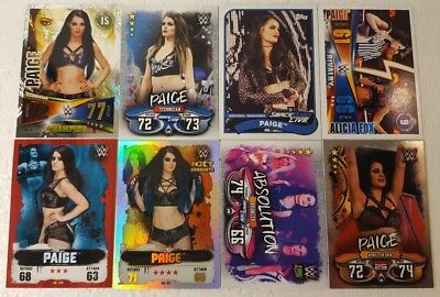 WWE PAIGE  trading Card  LOT US + UK no doubles