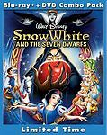 Snow White and the Seven Dwarfs (Blu-ray/DVD, 2009, 3-Disc Set) W/SLIPCOVER