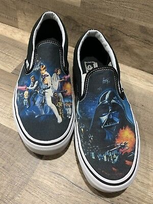 8f82b2bf2e VANS x STAR WARS Classic Slip On Shoes A New Hope Authentic Shoes Size Men 9