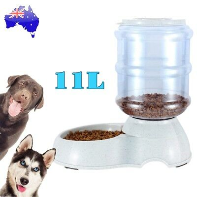 11L Automatic Pet Feeder Dispenser Dog Cat Auto Food Self Feeding Bowl Bottle AU