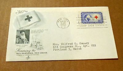 1952! Honoring the International Red Cross! Founded 1864! 3 Cent Stamp! VG Cond!