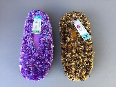 NWT Women/'s June /& Daisy Cozy Slippers Bedroom Shoes Size L//XL 1 Pair #209Z