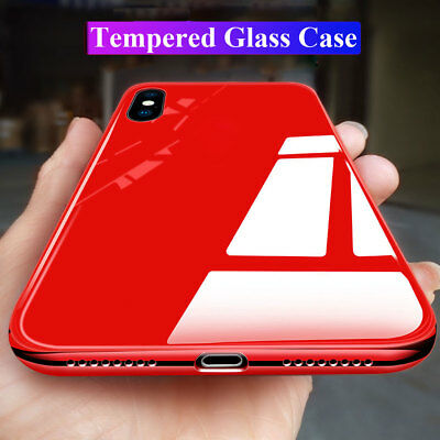 Slim Plating TPU Temper Glass Hybrid Case Cover for iPhone XS Max/XR/X 7 8 Plus