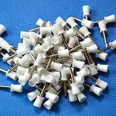 100 pcs Dental New Latch type Rubber Polishing Polisher Cups Prophy Cup Denshine