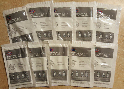 URNEX DEZCAL COFFEE & ESPRESSO MACHINE DESCALER - 10 SINGLE-USE 1-oz. PACKETS