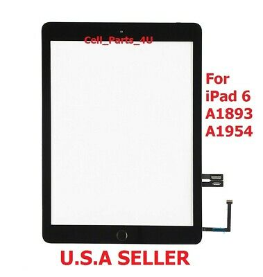 """2017 Black Touch Screen Digitizer Glass For iPad 5 5th 2017 Gen 9.7"""" A1822 A1823"""