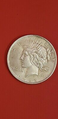 1922-P Peace Dollar Very Nice Pretty Old Collectable 90% Silver AU Coin