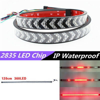 12V 120cm 360LED Arrow Style Flowing Turn Signal Brake Reverse Light Flash Lamp
