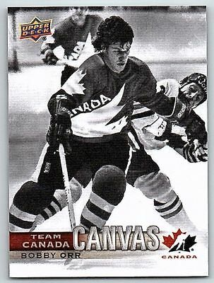 2017-18 UD CANADIAN TIRE TEAM CANADA CANVAS BOBBY ORR Insert Card # TCC-36 Mint