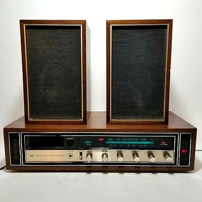 Vintage Lear Jet 8 model H-410 stereo reciever 8-track-speakers works
