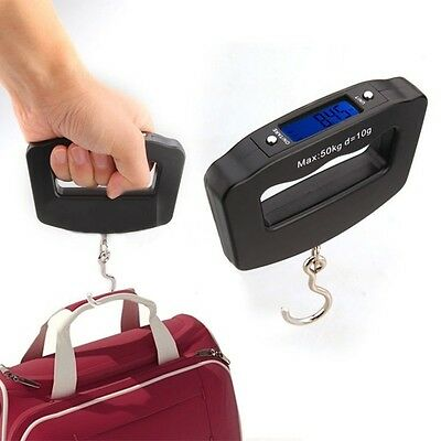 Electronic Portable Digital Luggage Weight Hanging Scale Traveling 50 KG 10G AU*