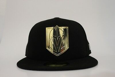Las Vegas Golden Knights Size 7 New Era 59FIFTY Fitted Hat Cap NHL Hockey  LV VGK a9898304cdd3