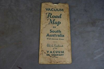 Vintage Vaccum Oil Company South Australian  Road Map