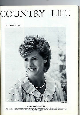 1983 COUNTRY LIFE Magazine CHEVIOTS Amanda Rooney Baer GRAPE HARVEST (2054)