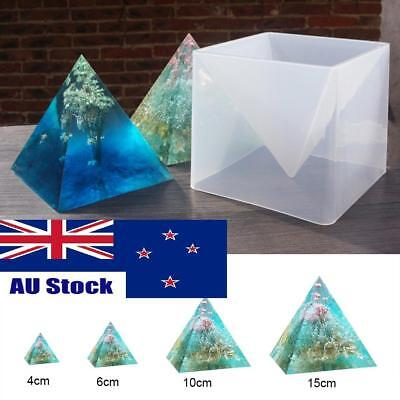 1 Set Large Pyramid Shape Silicone Mold Resin Casting Ornament Mould 15cm DIY