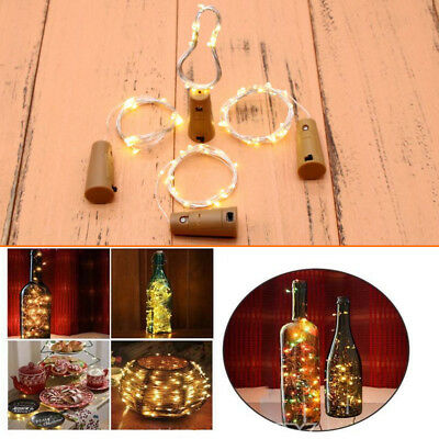 6/24pcs 20 LED Cork Shape LED Starry Night Light Wine Bottle Lamp Party FAST