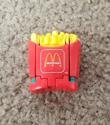 VINTAGE 1990 McDONALDS Restaurant French Fries Transformers Happy Meal Toy
