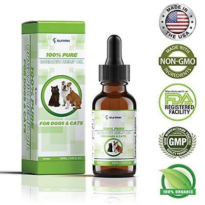 Organic Hemp Oil Pet Stress Relief For Dog Cat Anxiety Pain Relief 1 oz 30 ml US