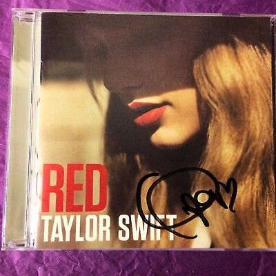 TAYLOR SWIFT SIGNED Australian RED CD Autographed