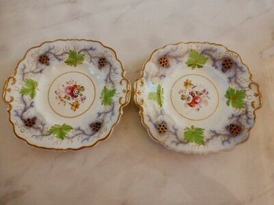 Early 19th Century - Hand Decorated China - Pair Of Cake Plates
