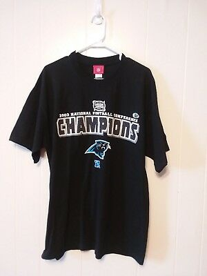 Carolina Panthers Super Bowl XXXVIII 2003 NFC Champions Mens T-Shirt Size XL  NFL 971dae36d