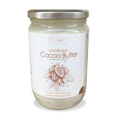 Cocoa Butter, 100% PURE & RAW, Natural, Unrefined from Ivory Coast, 500g