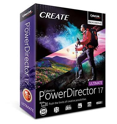 CyberLink PowerDirector Ultimate 17 | Latest Version | Unlimited license | Win