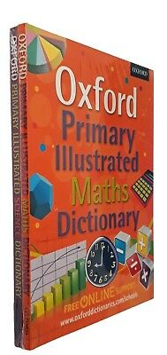Oxford Primary Maths Dictionary + Science Dictionary 2 Book Illustrated Kids New