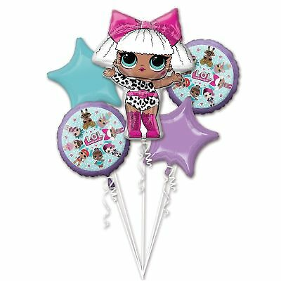 5 x LOL Surprise Doll Surprised Star Foil Balloon Birthday Girl Party Decoration