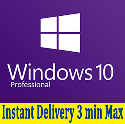 Win 10 Pro 32/64 Bit Windows 10 Pro Activation Key, Instant Delivery, 3 Min Max