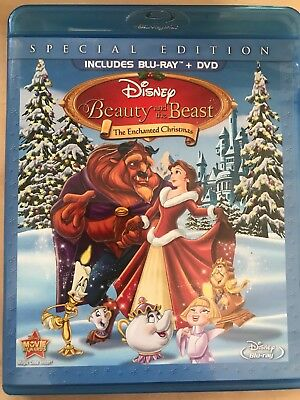 Beauty and the Beast: The Enchanted Christmas DVD DISK ONLY NO BLU RAY DISC (10)