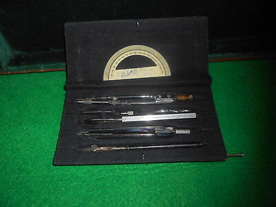 Antique Drafting Instrument Compass Set