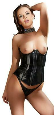 Corsetto e String Vinile Nero XL