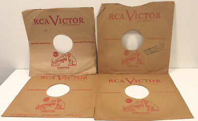 """RCA Victor 10"""" 78 Record Company Sleeve Only Lot His Master's Voice Red"""