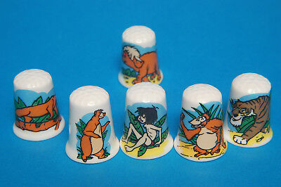 Jungle Book Set of 6 China Thimbles B/165