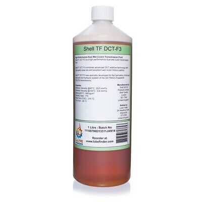 1L Shell TF DCT-F3 Dual Wet Clutch Transmission Fluid GETRAG 7DCL750
