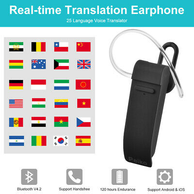 Peiko Real-time Translation Earphone 25 Languages Bluetooth In-Ear Headset DC825