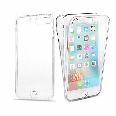 Apple iPhone 7 8 XR XS Plus Slim Shockproof 360 Front and Back Full Clear Case
