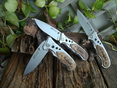 3PC Personalized Knives, Custom Knives, Daddy Gift ,Groomsman Best Man Gifts 423