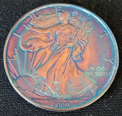 2009 Silver American Eagle Dollar AMAZING Toning 1oz .999