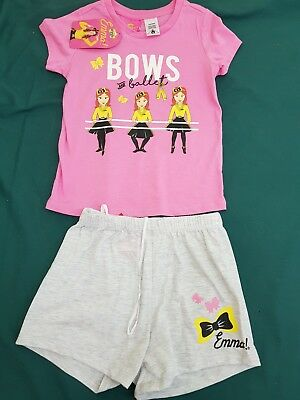 licensed girls size 5 outfit the wiggles emma pyjama set  - new nwt