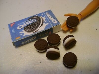 Barbie Dollhouse Food OREO'S  Handcrafted with a box   NEW