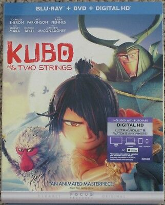 Kubo And The Two Strings 2016 Blu-Ray Dvd Digital Hd Brand New Sealed Slipcase