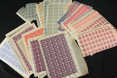 Unused NH Germany Full & Partial Sheet Collection Lot Inflation Reich WWII 5000+