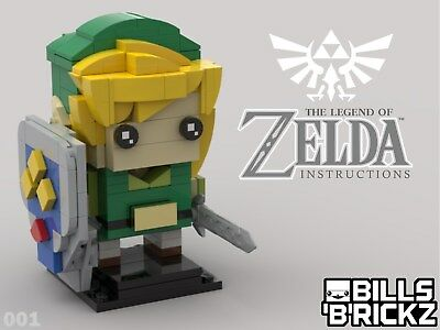 Lego MOC Brickheadz - Legend of Zelda - Link - Custom PDF Instructions ONLY