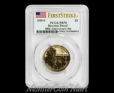 2018-S Reverse Proof Sacagawea Native American Dollar PCGS PR70 FIRST STRIKE