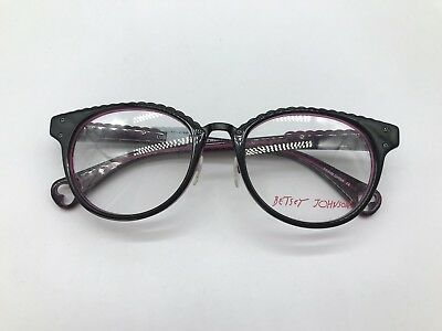 0c935f149c8 Betsey Johnson Luscious Lennon BJ0164 Designer Frames 50-19-140 Black 01  Glasses